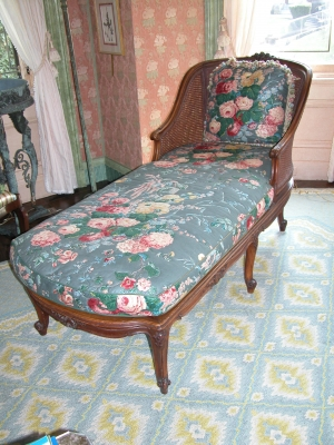 19th Century Caned Back Chaise
