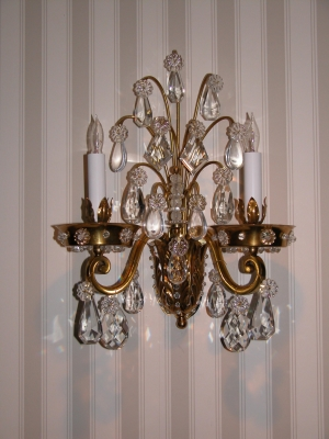 Pair Sconces Attributed to Bauges or Jansen
