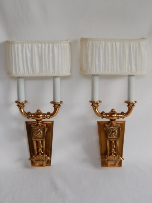 Pair Two Light Wall Sconces